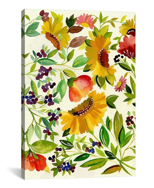 "iCanvas ""Sunflowers"" By Kim Parker Gallery-Wrapped Canvas Print - 18"" x 12"" x 0.75"""