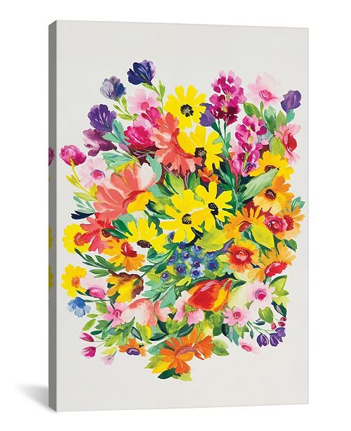 "iCanvas ""Snapdragons and Zinnias"" By Kim Parker Gallery-Wrapped Canvas Print - 18"" x 12"" x 0.75"""