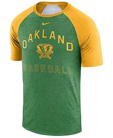 Nike Men's Oakland Athletics Dry Slub Short Sleeve Raglan T-Shirt
