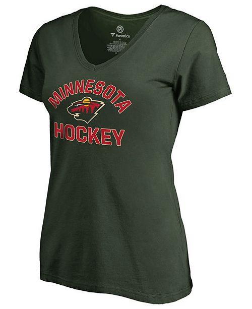 Authentic NHL Apparel Women's Minnesota Wild Overtime V-Neck T-Shirt