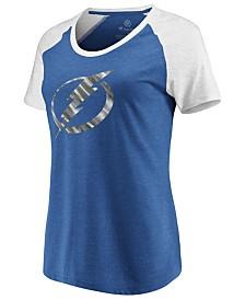 Majestic Women's Tampa Bay Lightning Official Foil Logo T-Shirt