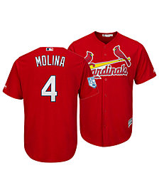 Majestic Men's Yadier Molina St. Louis Cardinals Spring Training Patch Replica Cool Base Jersey