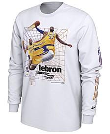 Men's LeBron James Los Angeles Lakers Time Warp Player Photo Long Sleeve T-Shirt