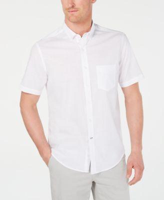 white mens casual button down shirts \u0026 sports shirts macy\u0027sclub room men\u0027s stretch performance micro check shirt, created for macy\u0027s