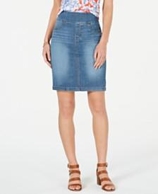 Style & Co Ella Pull-On Denim Skirt, Created for Macy's