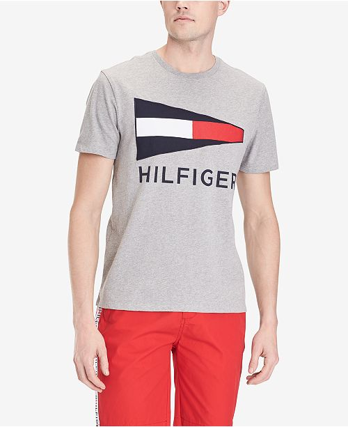 Tommy Hilfiger Men's Big and Tall Bulkhead Logo Graphic T-Shirt