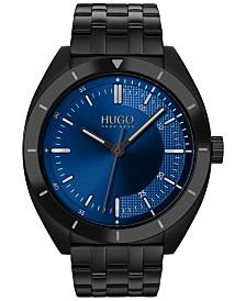 HUGO Men's #Style Black Stainless Steel Bracelet Watch 42mm