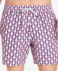 "Tommy Hilfiger Men's Niles Quick-Dry Geo-Print 6-1/2"" Swim Trunks"