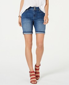 Style & Co Two-Button Denim Shorts, Created for Macy's
