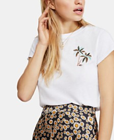 Free People Beachy Keen Flamingo-Graphic T-Shirt