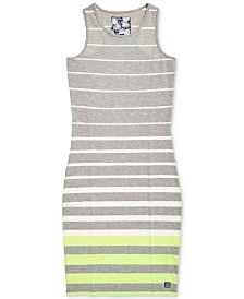 Superdry Sports Luxe Striped Bodycon Dress