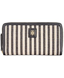 Tommy Hilfiger Julia Straw Lurex Wallet