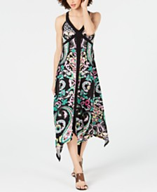 I.N.C. Paisley Halter Midi Dress, Created for Macy's
