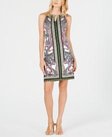 I.N.C. Printed Halter Sheath Dress, Created for Macy's