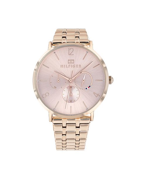 Tommy Hilfiger   Women's Carnation Gold-Tone Bracelet Watch 40mm, Created for Macy's