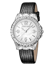By Franck Muller Women's Swiss Quartz Gray Leather Strap Watch, 34mm