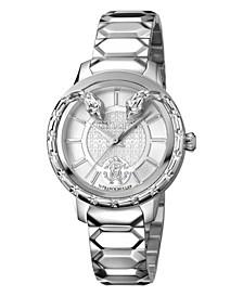 By Franck Muller Women's Swiss Quartz Silver Stainless Steel Bracelet Watch, 34mm