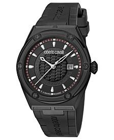 By Franck Muller Men's Swiss Quartz Black Rubber Strap Watch, 45mm