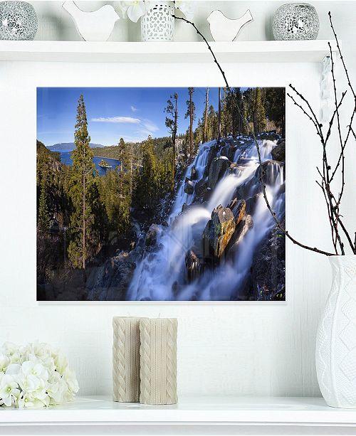 "Design Art Designart 'Eagle Falls Emerald Bay Lake Tahoe' Landscape Metal Wall Art - 20"" X 12"""