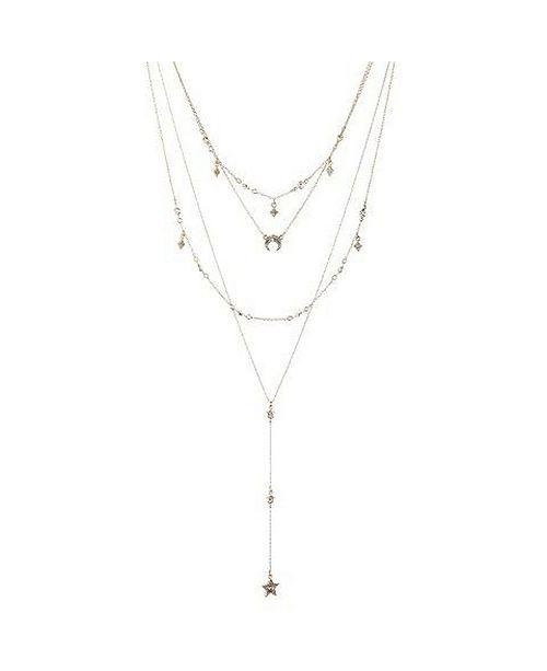 Nicole Miller Multi Row Star Y Necklace