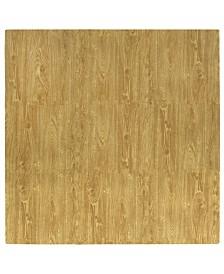 Tadpoles 9 Piece Foam Play Mat Set, Wood Grain
