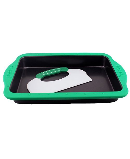 "BergHoff Perfect Slice 13"" Rectangular Cake Pan with Silicone Sleeve"