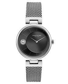 Kenneth Cole New York Ladie's Stainless Steel Mesh Bracelet with Crystal Dial, 34MM