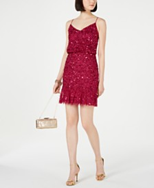 Adrianna Papell Embellished Blouson Sheath Dress