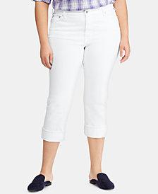 Lauren Ralph Lauren Plus Size Regal Straight Jeans, Created for Macy's