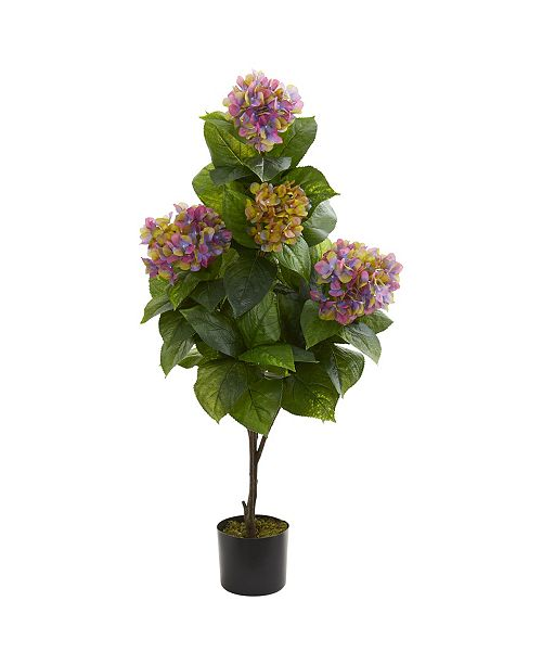 "Nearly Natural 45"" Hydrangea Artificial Plant"