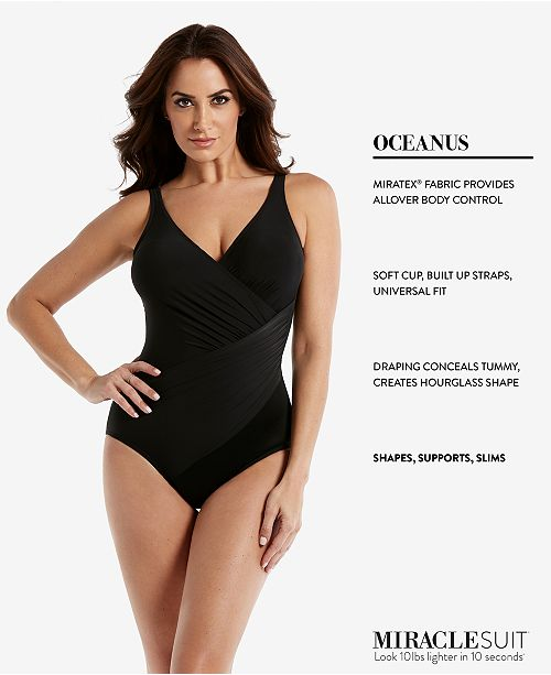 ecaf59732b0 Miraclesuit Oceanus One-Piece Allover Slimming Swimsuit   Reviews ...