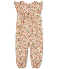 Polo Ralph Lauren Baby Girls Floral Flutter-Sleeve Coverall