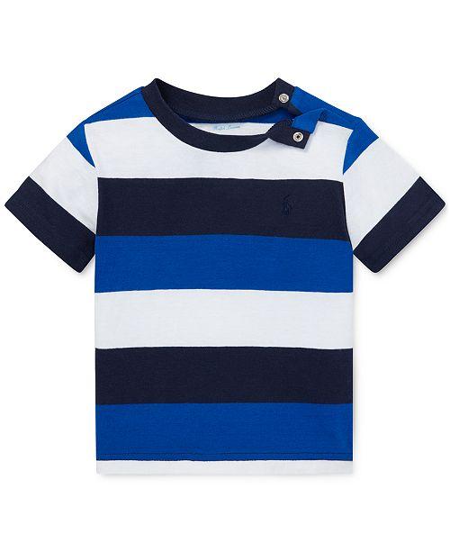ca29ee012 Polo Ralph Lauren Baby Boys Striped Cotton Jersey T-Shirt & Reviews ...