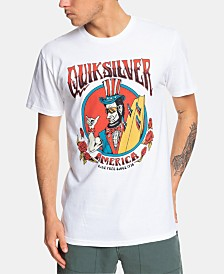 Quiksilver Men's Ride Free Roses Logo Graphic T-Shirt