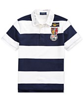 5cbc392fe63 Polo Ralph Lauren Big Boys Striped Cotton Rugby Shirt