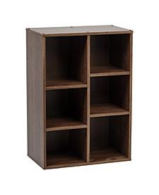 6 Cube Wood Shelf Collan Series