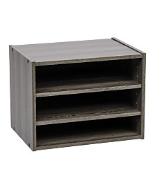 Modular Wood Storage Organizer Cube Box with Adjustable Shelves, Tachi Series