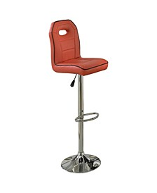 Swivel Bar Stool with Adjustable Height and Foot Rest, Set of 2