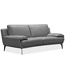 """Surat 85"""" Leather Loveseat, Created for Macy's"""