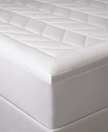 "Home Luxury Chevron Quilted 2"" Down Alternative Mattress Pad Collection"