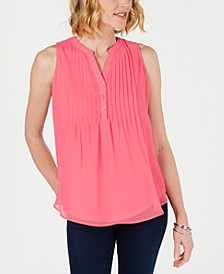 Sleeveless Pintuck Blouse, Created for Macy's