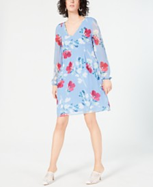 I.N.C. Floral-Print Shift Dress, Created for Macy's