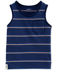 Toddler Boys Striped Pocket Cotton Tank Top