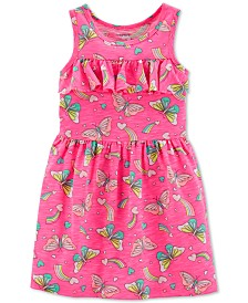 Carter's Toddler Girls Butterfly-Print Ruffled Dress