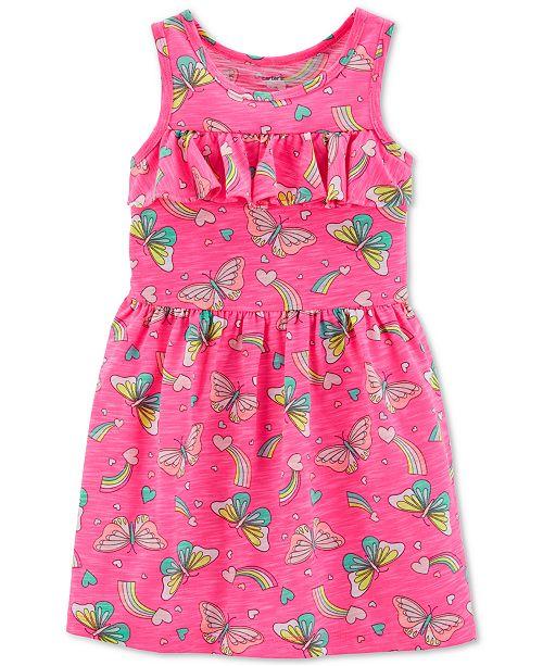 Carter's Toddler Girls Butterfly-Print Ruffled Dress