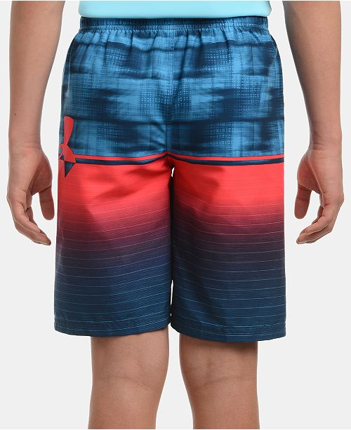 49c229702e Under Armour Big Boys Mixed-Print Volley Swim Trunks & Reviews ...