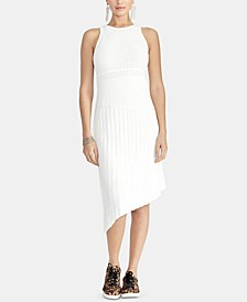 Lynn Mixed-Stitch Sleeveless Bodycon Sweater Dress
