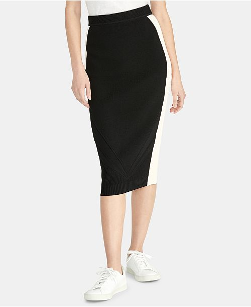 RACHEL Rachel Roy Joyce Colorblocked Sweater Skirt