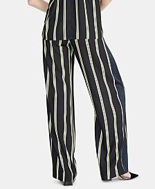 RACHEL Rachel Roy Goldie Striped Pull-On Pants