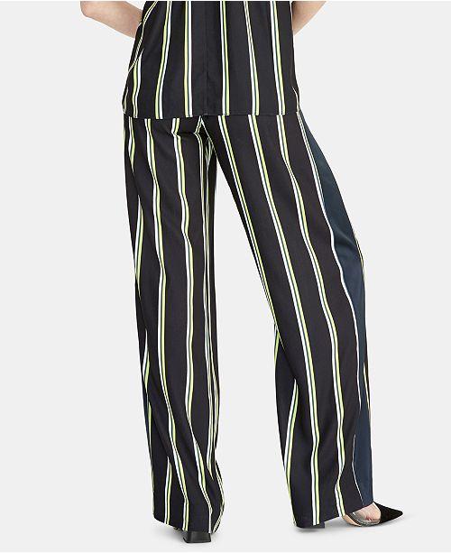 RACHEL Rachel Roy Goldie Striped Pull-On Pants